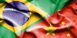 Capa do artigo sobre peste suína africana no Brasil. Capa que mostra a bandeira do Brasil e China