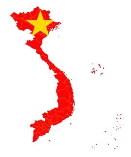 Mapa figurativo Vietnã