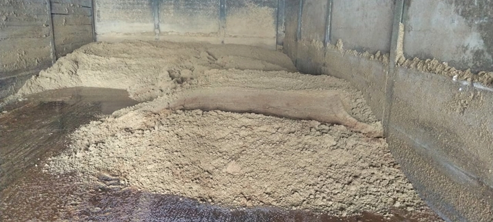 Foto de resíduo úmido de cervejaria