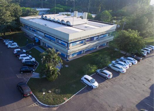 Vista aérea do prédio da Agroceres Multimix